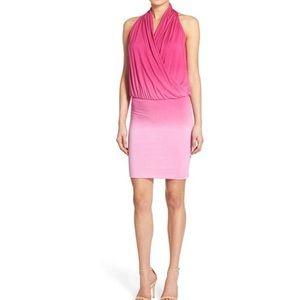 AMOUR VERT Goldie pink ombré sexy mini dress L